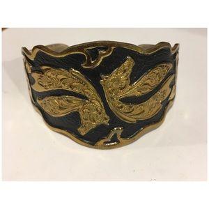 Vintage Crumrine Western Horse cuff bracelet